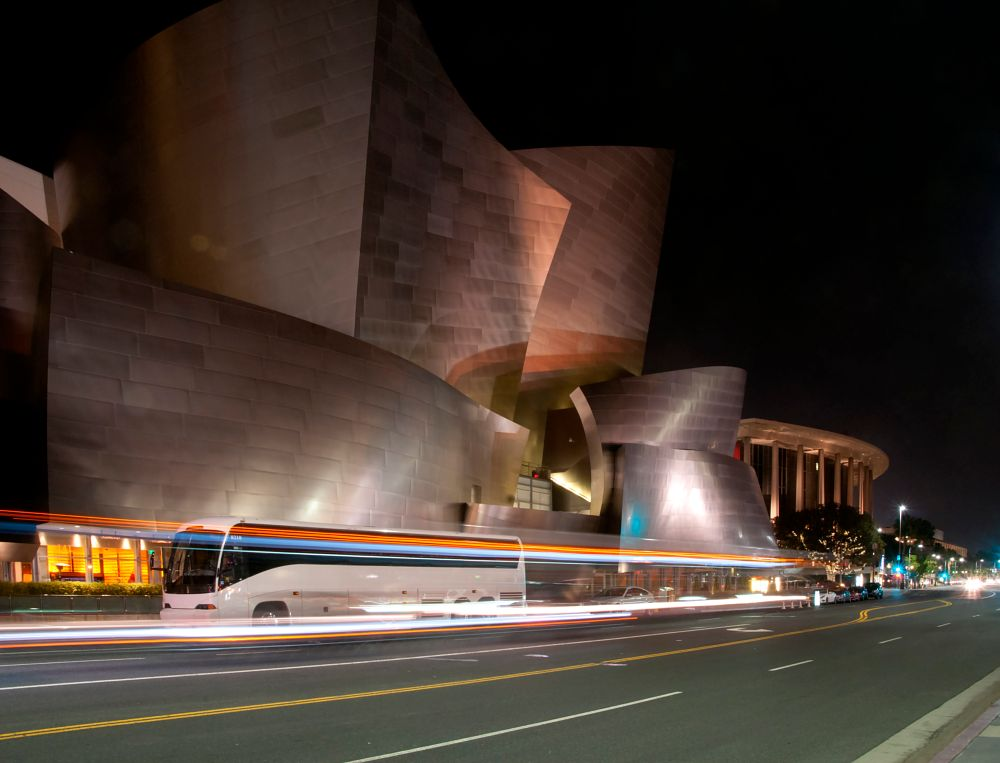 Photo in Architecture #walt disney #concert hall #night #los angeles #downtown