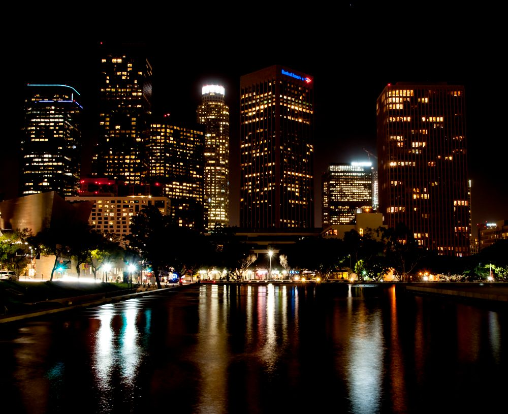 Photo in Cityscape #downtown los angeles #night #skyline