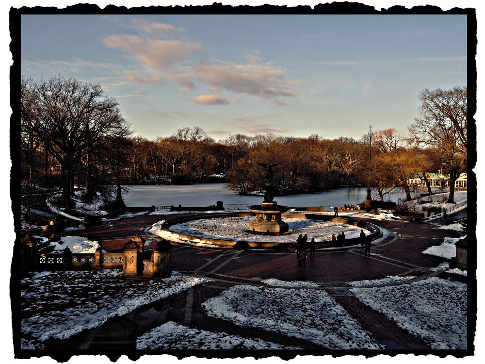 Photo in Architecture #central park #new york #snow #lake