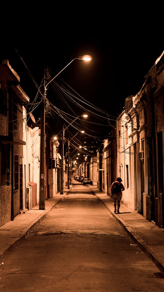 Photo in Street Photography #lonely #street photography #santiago #chile
