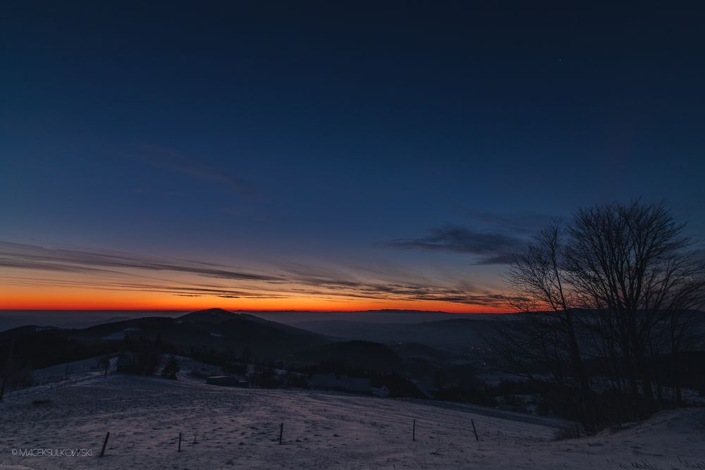 Photo in Landscape #poland #beskidy #sunrise #macieksulkowski