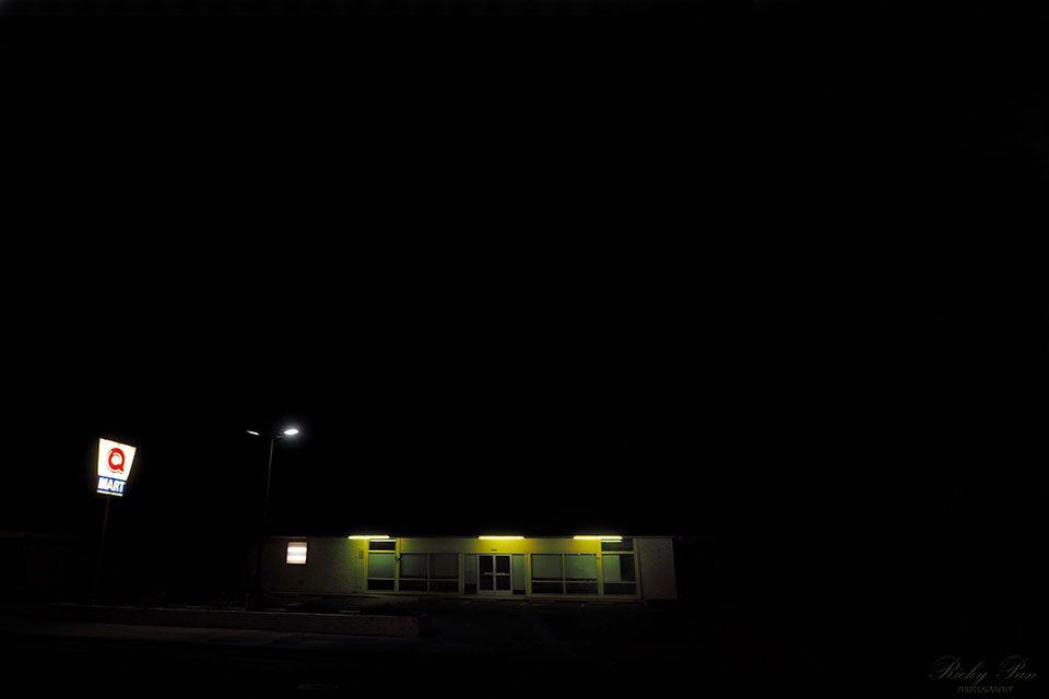 Photo in Urban #night #q-mart #light #abandon