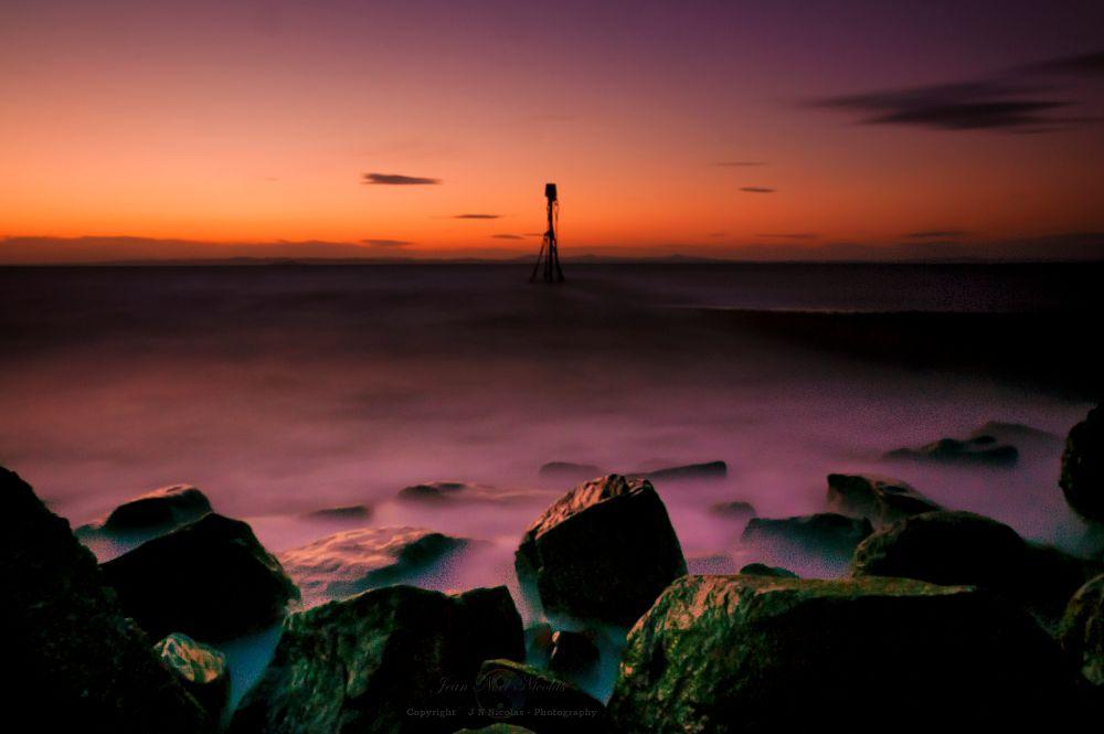 Photo in Landscape #sunset #landscape #nature #rocks #long exposure #seascape