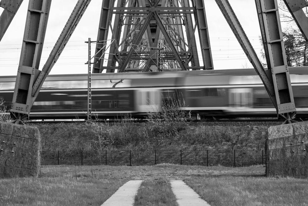 Photo in Architecture #train #metal #fast #bridge
