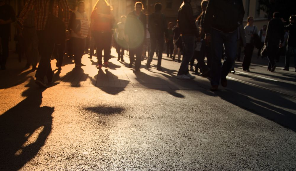 Photo in Street Photography #metropolitan #street photography #sunset #istiklal #people #walking #city streets