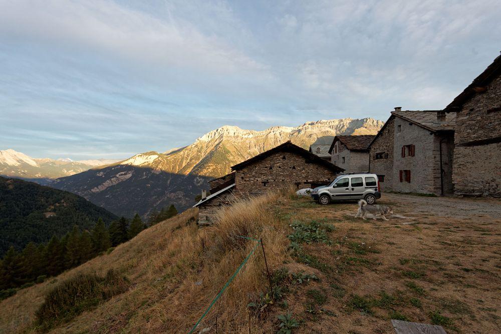 Photo in Rural #wolf #malamute #village #mountains