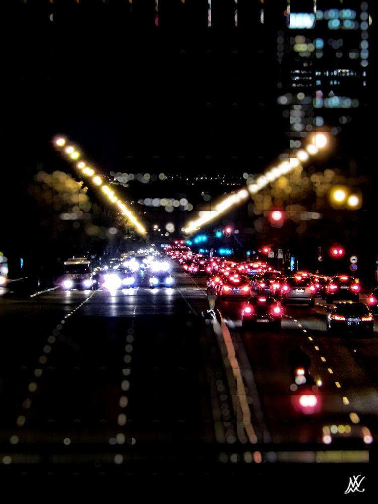 Photo in Urban #luces #vehiculos #urbana #desenfoque #nocturna