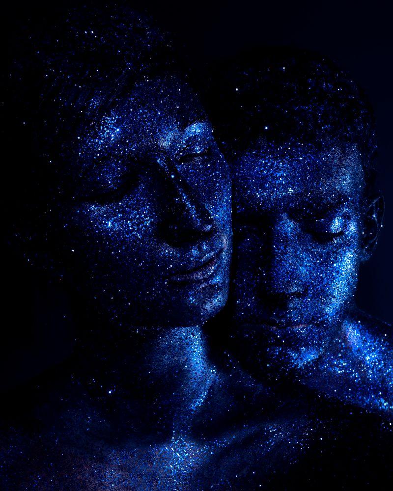 Photo in Portrait #glitter #fineart #glow #galaxy #fantasy #art #portrait