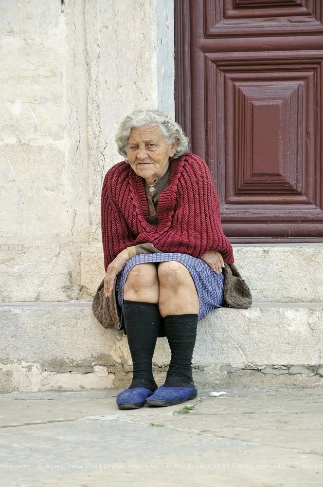 Photo in People #old lady #sitting #portrait #portugal #arlindo