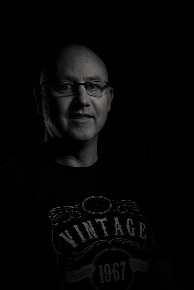 Photo in Black and White #man #black and white #male #portrait #glasses