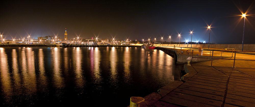 Photo in Random #lights #night #coast #port #poland #polska #władysławowo #kaszuby