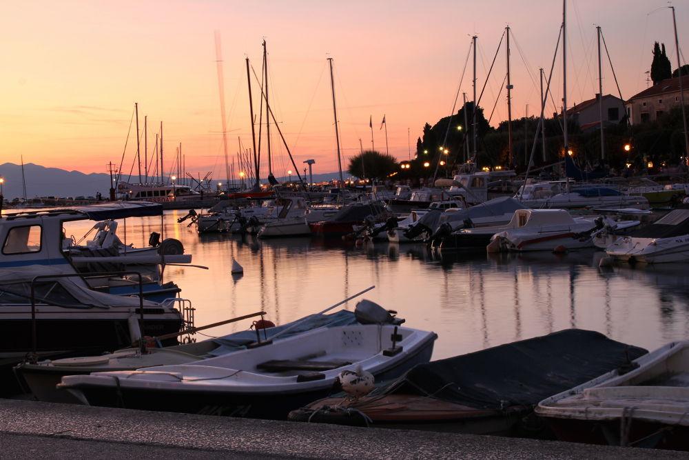 Photo in Random #ship #krk #croatia #sunset #malinska #seaport