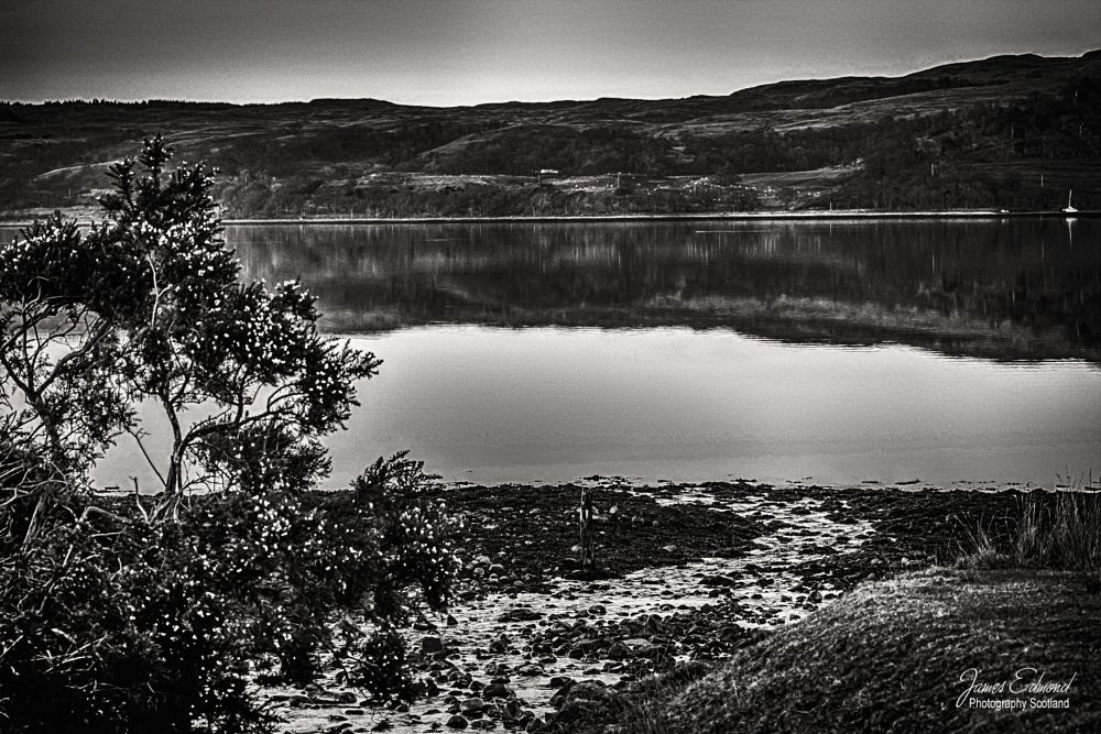 Photo in Black and White #loch #etive #hills #water #monochrome #black #white #jedmondphotography #scotland #scottish #highlands