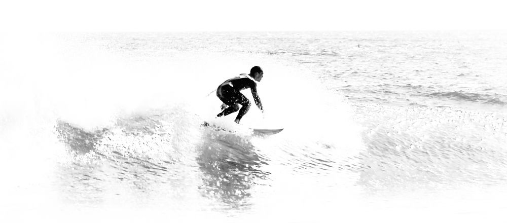 Photo in Black and White #waves #surf #beach