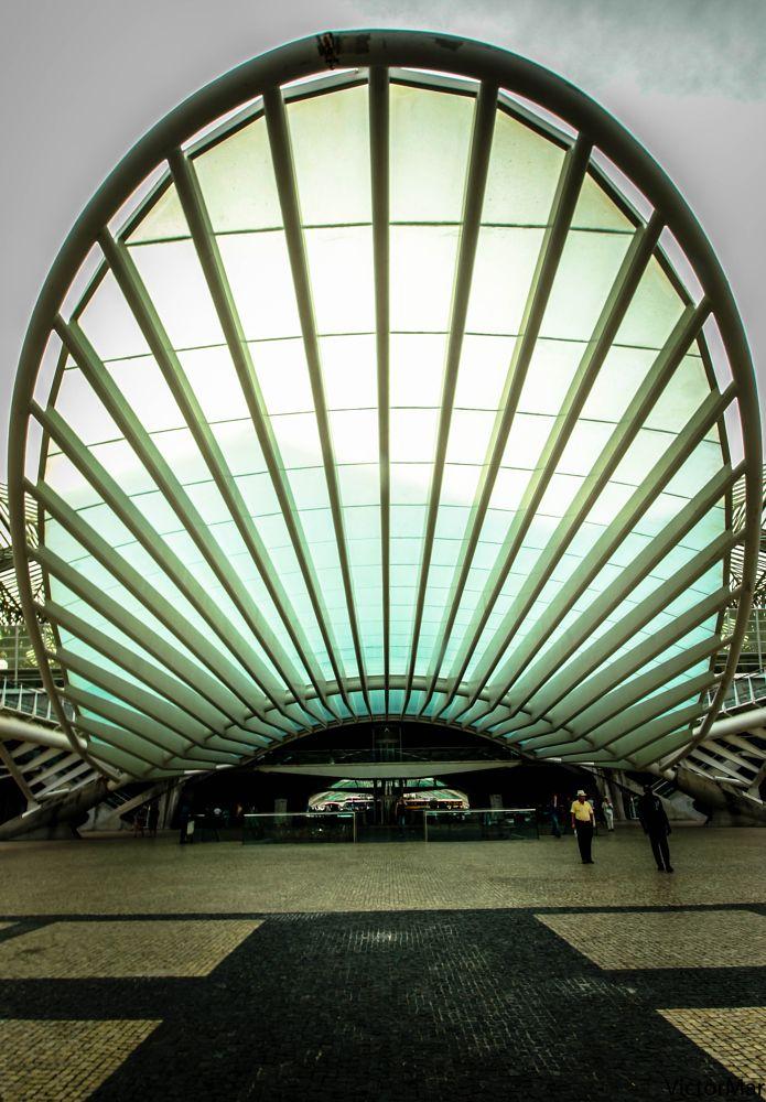 Photo in Architecture #lisbon #calatrva #railway