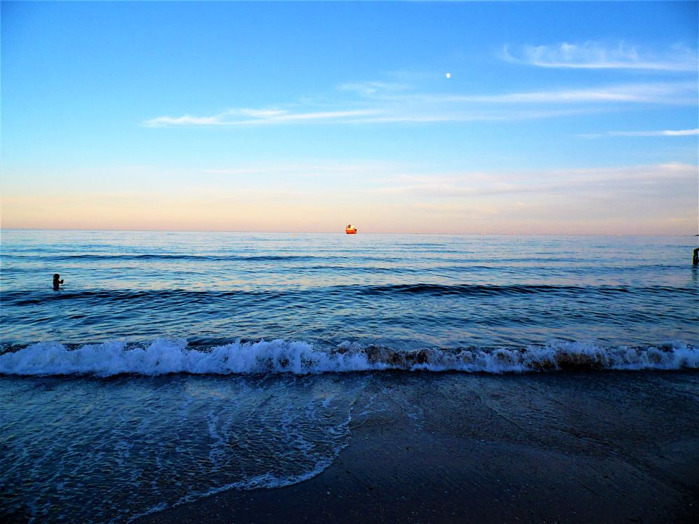 Photo in Sea and Sand #sea #sand #waves #ship