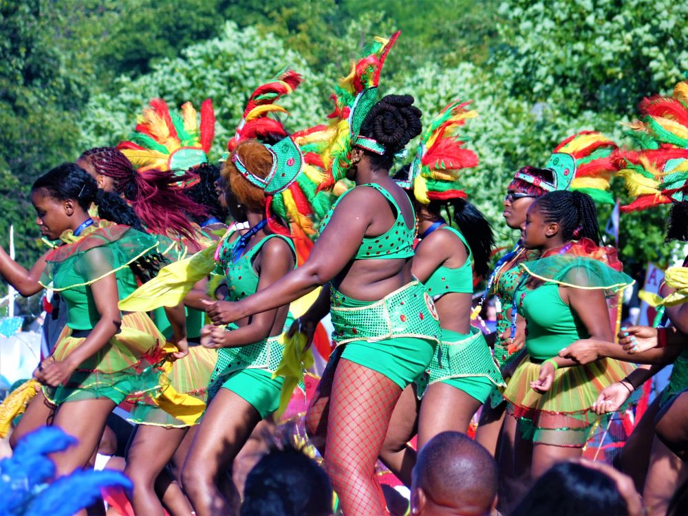 Photo in People #girls #dancing #summer #sunshine #colourful #colours #carnival