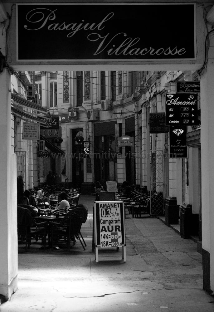 Photo in Street Photography #street #cafe #bucuresti #romania #bucharest #alley #black and white