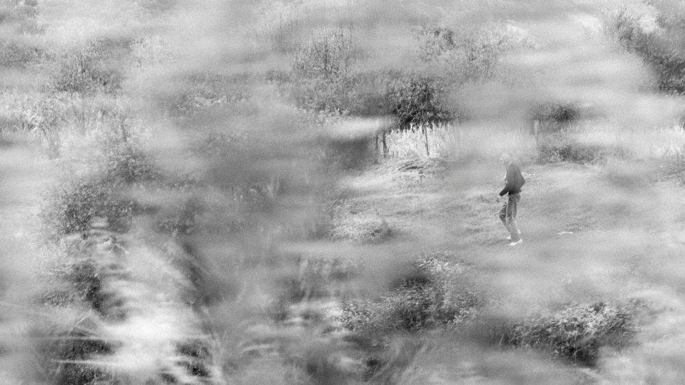 Photo in Black and White #people #village #field #motion #black and white #olympus