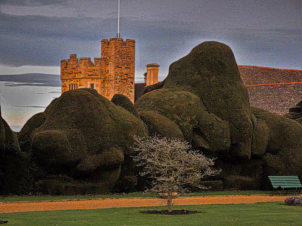 Photo in Landscape #rockingham #castle #garden #country house #dusk