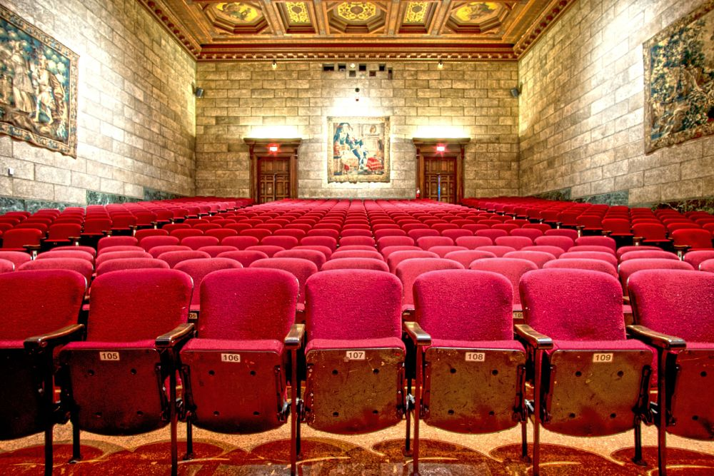 Photo in Architecture #theater #theatre #vintage #auditorium #character #history #details #art