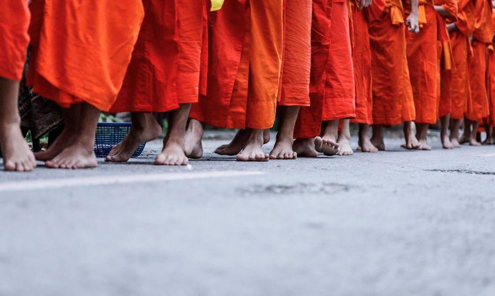 Photo in Street Photography #luangprabang #laos #monks