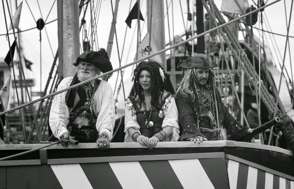 Photo in Black and White #pirate #brixham #boat