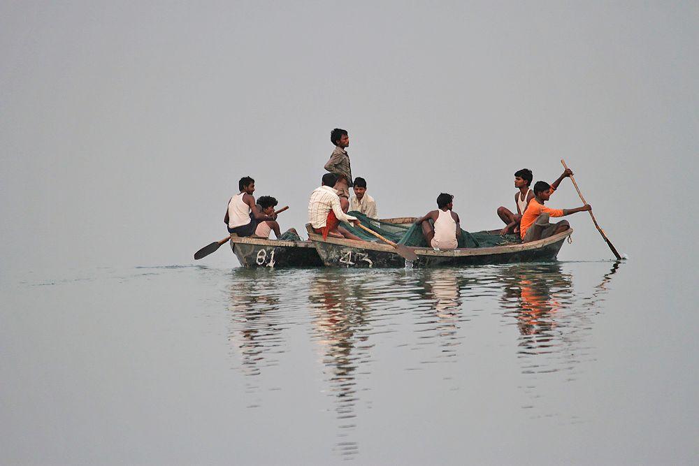 Photo in Random #nature + fishermen+ water trns