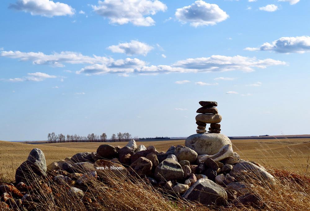 Photo in Landscape #inukshuk #prairie