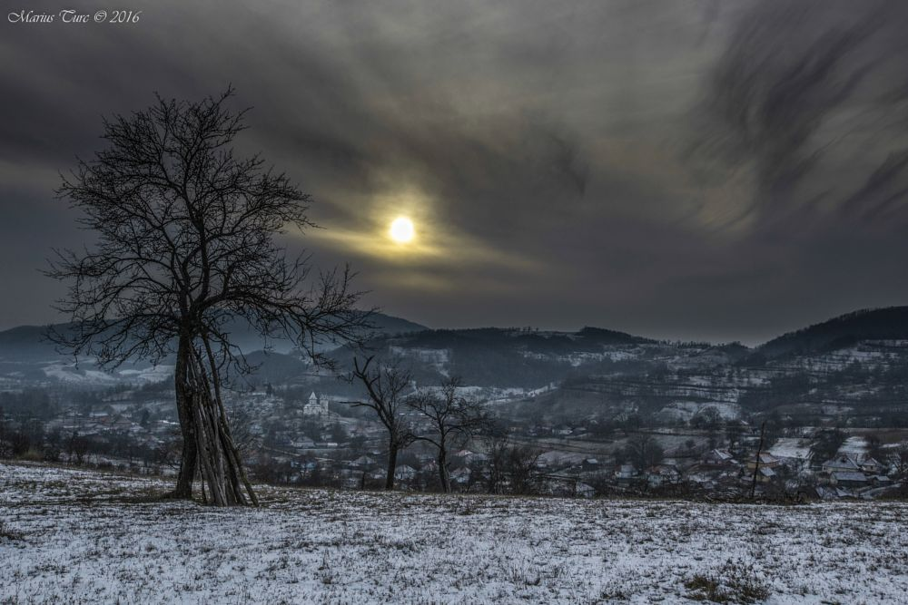 Photo in Landscape #winter #cold #sunset #nature #romania