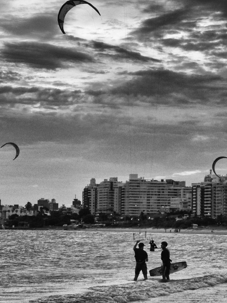 Photo in Sports #sport #kitesurf #beach #sea