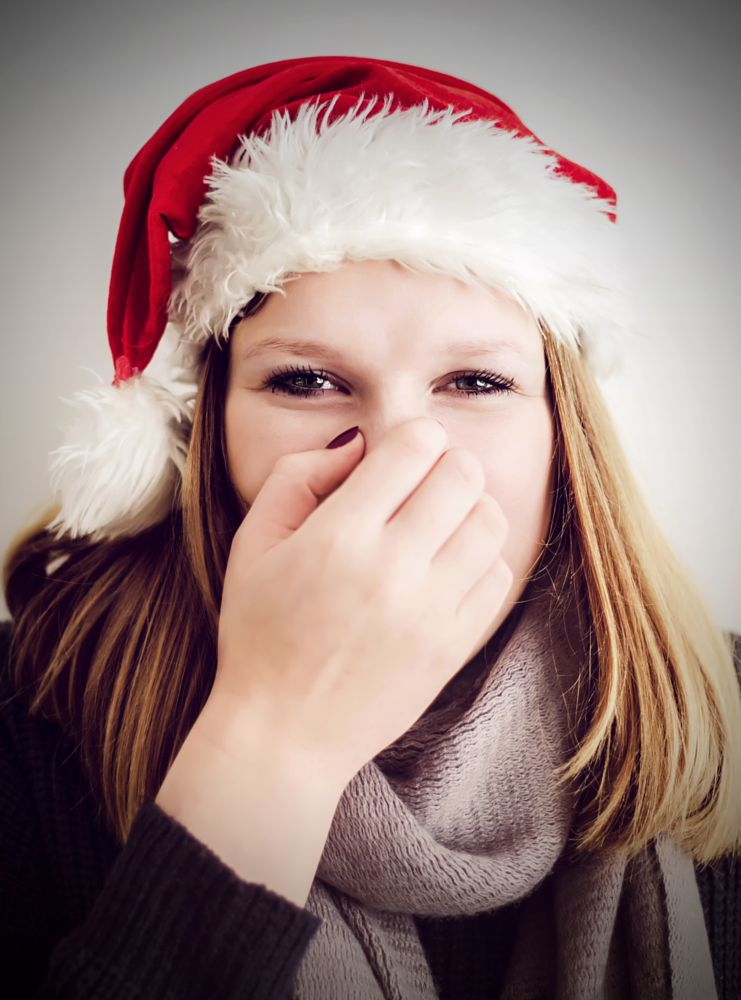 Photo in Portrait #christmas #girl #amsterdam #portrait #face #eyes #lips #hand #beautiful #young #hat #party #hair #white #blonde