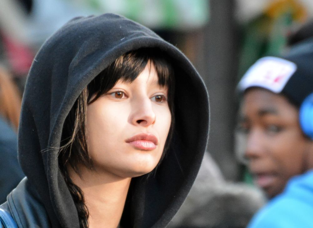 Photo in Street Photography #candid #street #hoodie #girl