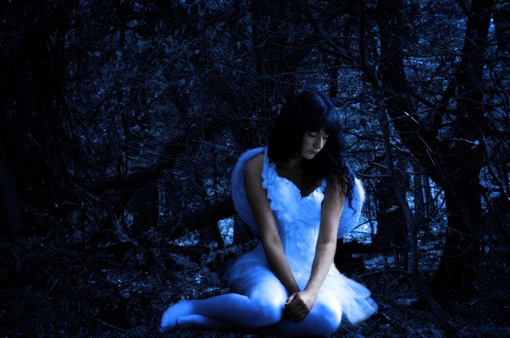Photo in Random #angel #forest #fallen #blue