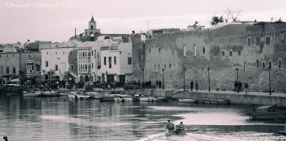 Photo in Black and White #vieux_port blak_and_wite