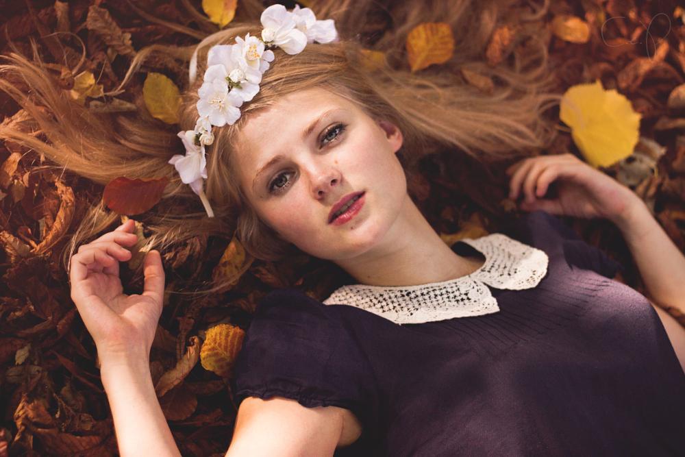 Photo in Portrait #woman #autumn #nature