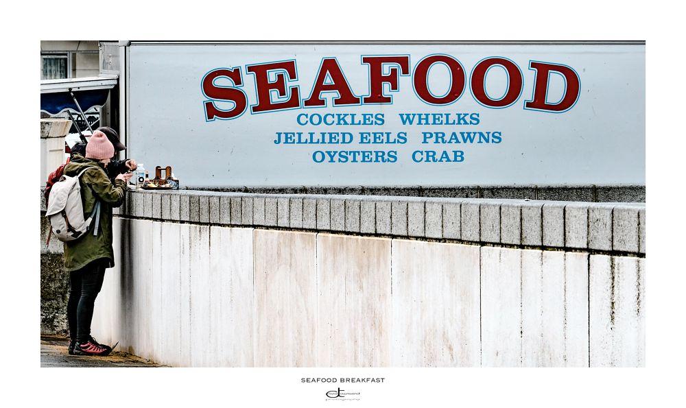 Photo in People #seafood #crab #whelks #prawns #seaside