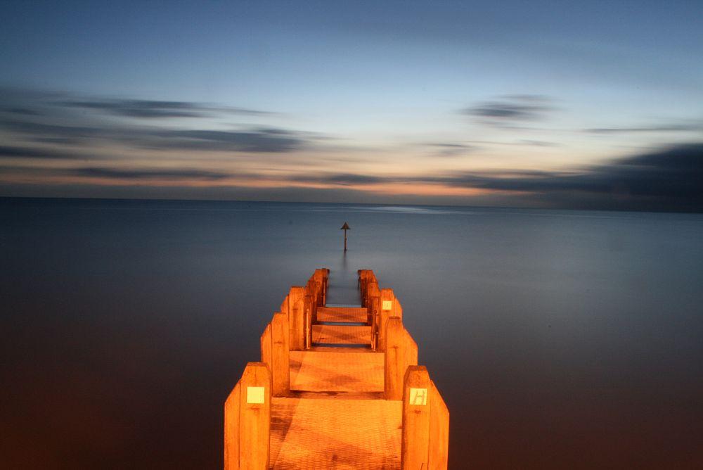 Photo in Sea and Sand #jeti #sunset #aber
