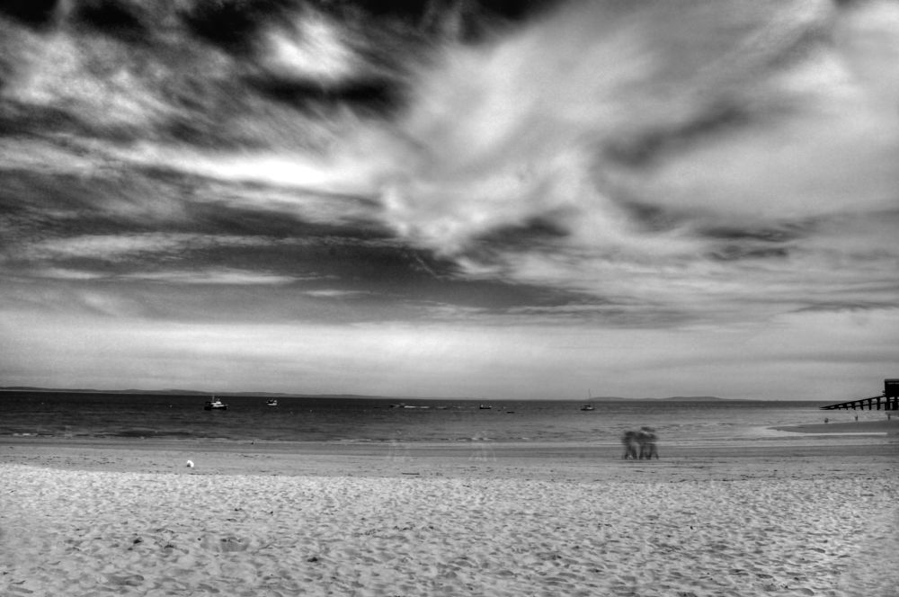 Photo in Landscape #black and white #filter #tenby