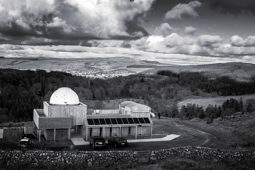 Photo in Black and White #observatory #black & white #landscape