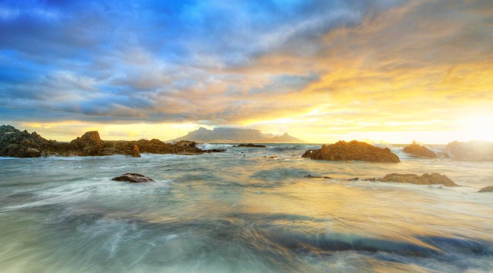 Photo in HDRI #table mountain #hdr #elmer van zyl #cape town #seascape #clouds