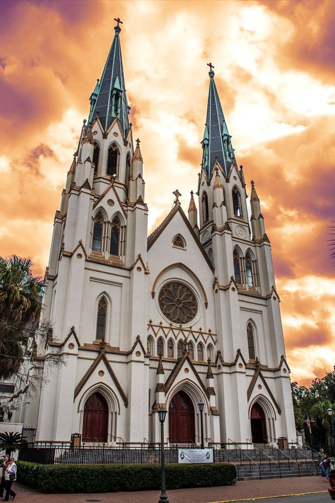 Photo in Architecture #church #savannah #georgia #evil #looming