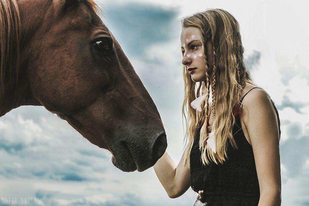 Photo in Portrait #horse #mode #indien