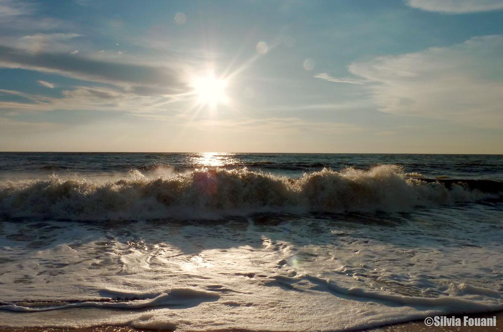 Photo in Nature #beach sea light waves
