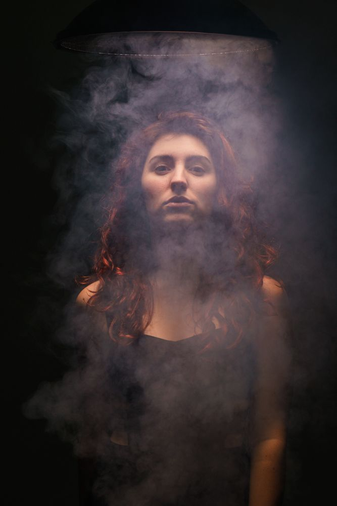 Photo in Portrait #light #smoke #studio #model #beauty