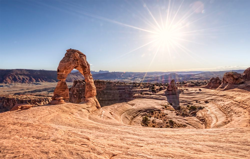 Photo in Landscape #sun #sun star #arch #stone #rock #sky