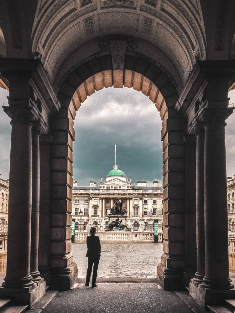 Photo in Architecture #somerset house #london #skrwt #perspective #architecture #dvsn #city