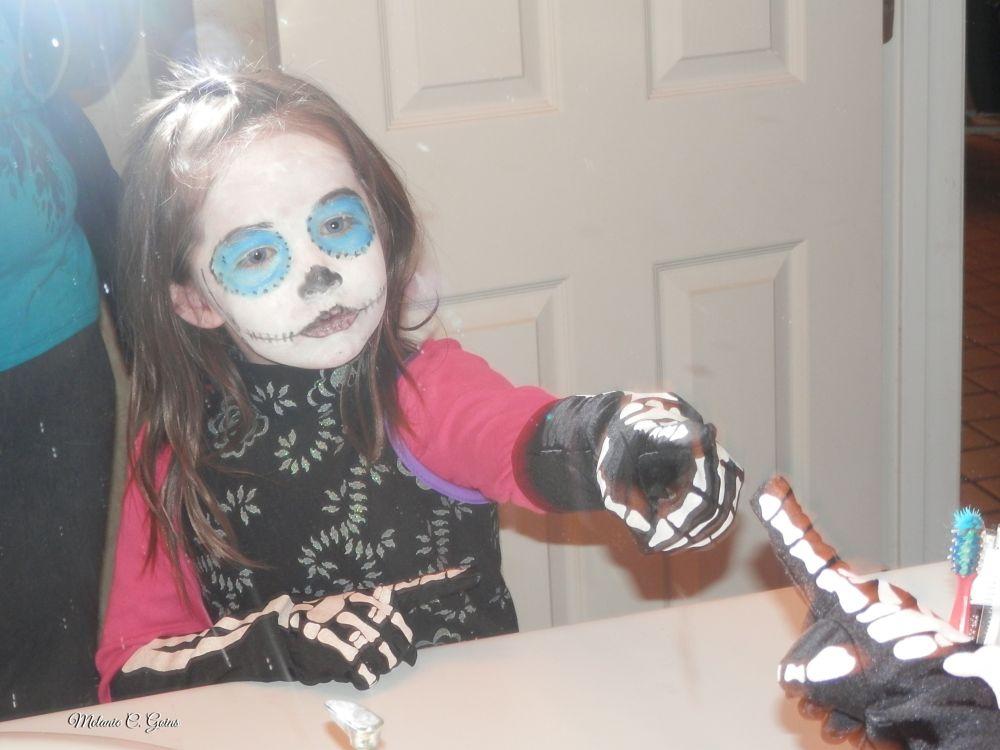 Photo in Family #make-up #halloween #costume #reflection #amazed