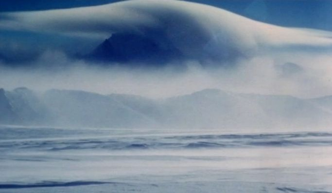 Photo in Nature #antarctica #mountain #snow #clouds