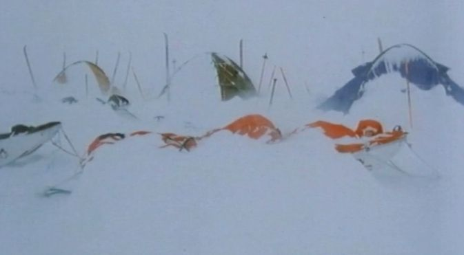 Photo in Nature #snow storm #antarctica #camp #snow